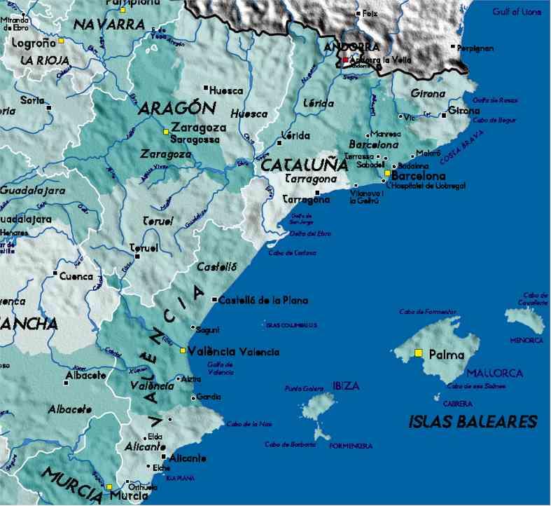 Kaart Spanje Spanje Vakantieland