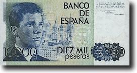 10000 peseta-biljet