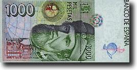 1000 peseta-biljet