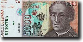 5000 peseta-biljet