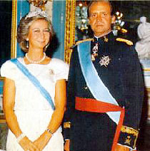 Koning Juan Carlos en koningin Sofia van Spanje